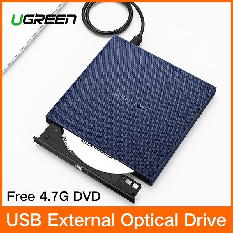 Ugreen USB Unidad óptica externa USB 2,0 CD/DVD-ROM Combo DVD RW ROM quemador para Dell Lenovo Laptop Windows /Mac OS DVD USB
