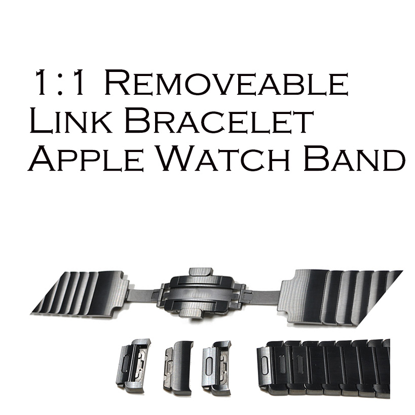 Full 316L Stainless Steel Link Bracelet Watch Band for Apple Watch Series 1 2 3 Strap for IWatch adjustable Without Tool 100pcs universal watch band repair kit stainless steel strap spring bar bracelet link pin remover removal tool for watchmaker