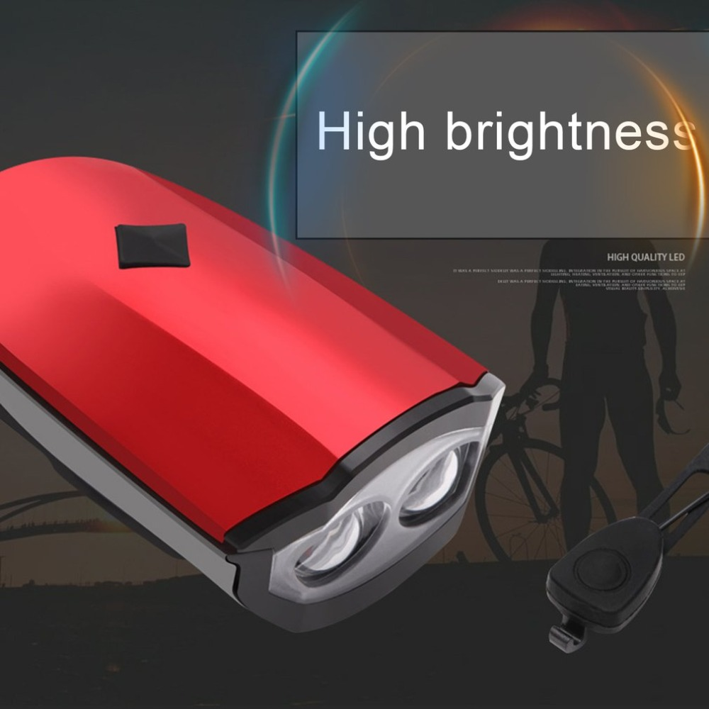 Perfect 2018 New Universal USB Rechargeable Bike Light Loud Sound Bicycle Bell Light Waterproof Super Bright LED Lamp Front Headlights 3