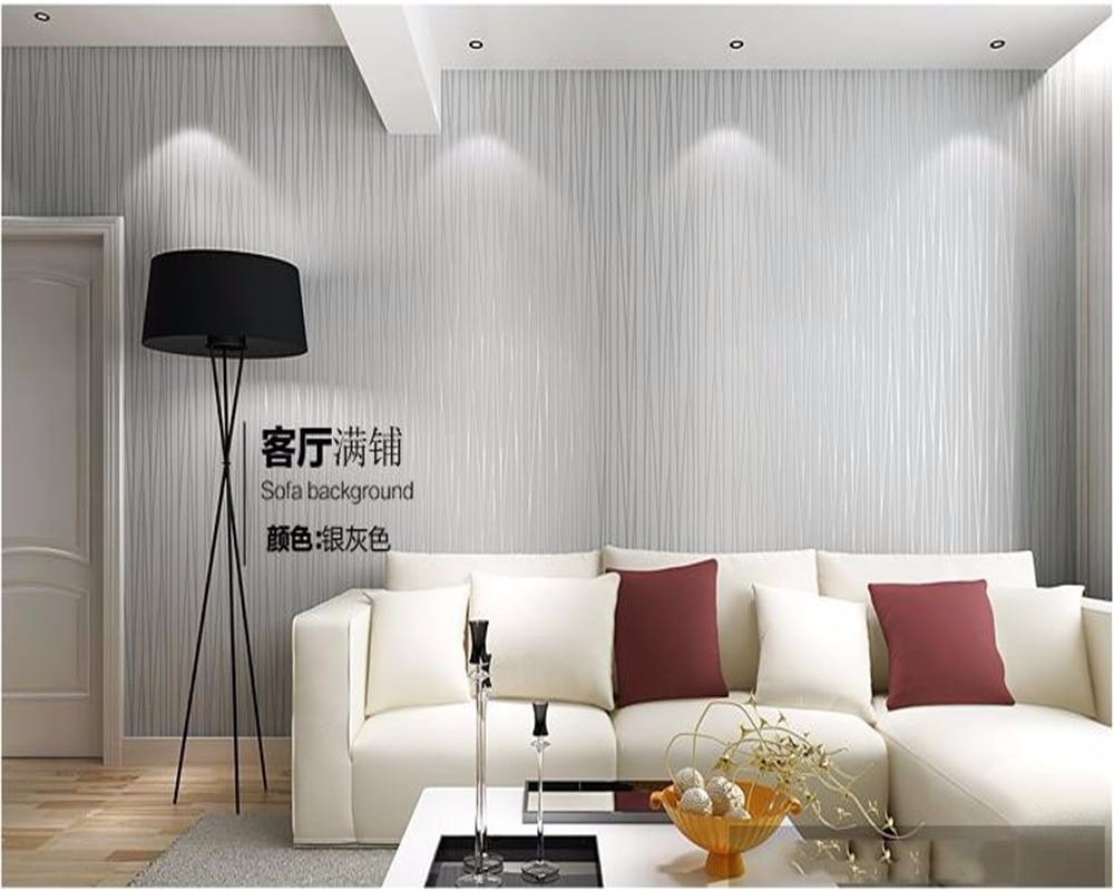 Beibehang Bedroom wall wallpaper stripes 3 d living room yellow ...