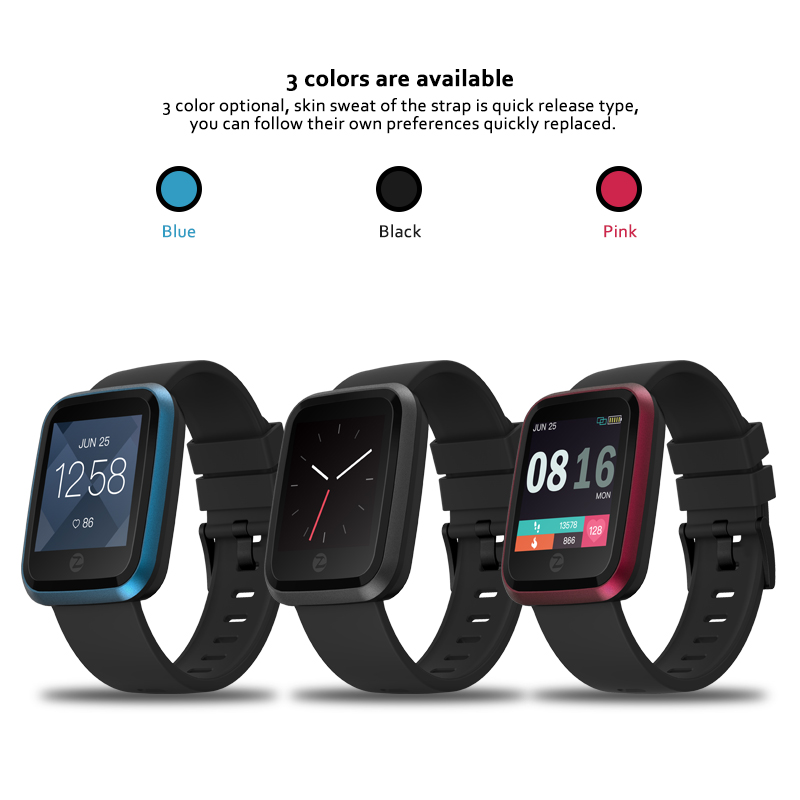 Zeblaze Crystal 2 Smart Watch Men IP67 Waterproof Wearable Device Heart Rate Monitor Color Display Smartwatch For Android IOS in Smart Watches from Consumer Electronics