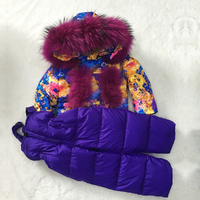 Зимний Детский пуховик для девочек с модным передним карманом, пуховик для мальчиков с пуховыми штанами, комплект из 2 предметов, 2, 4, 6, 8, 10, 12