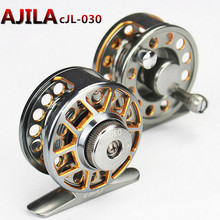 New Double color Aminum Die casting Fly Fishing reels Fishing Tackle Fly Fishing Wheel 2+1BB Line wheel diameter 40mm 50mm 600mm