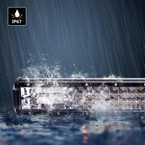 Image 3 - 17 20 23 26 32 polegada 360 w triple row led barra de luz trabalho âmbar combo nevoeiro drive lâmpadas para caminhões offroad barco atv 4x4 4wd marinha