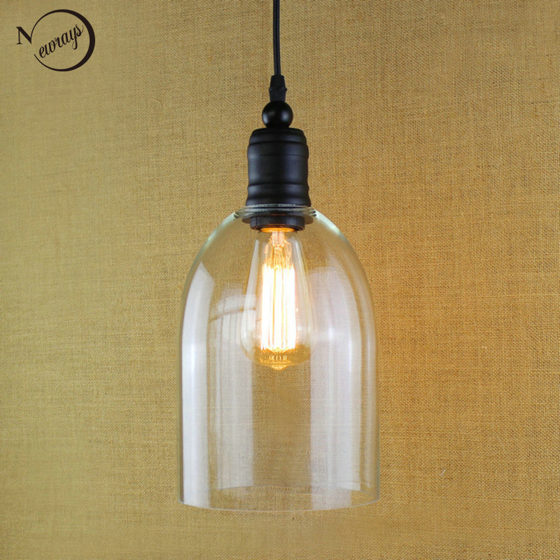 Современный прозрачный колокол стекло подвесные светильники висит бутылки вина с Edison лампа для Кухня столовой светильники