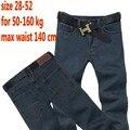 Envío libre más el tamaño 50 52 mens hip hop pantalones militares los hombres pantalones de algodón pantalones vaqueros de marca pantalones casuales hombres de Gran tamaño de la cintura 140 cm