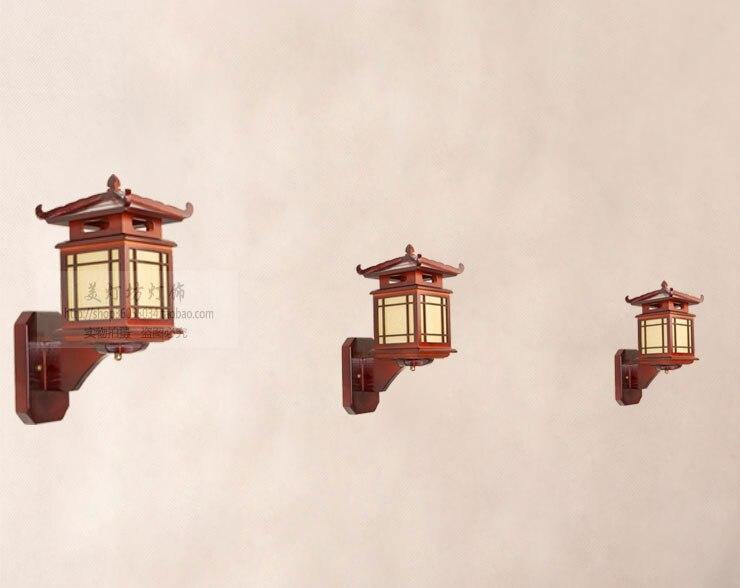 Stile cinese in legno applique da parete casa di legno intagliato