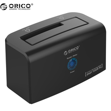 ORICO 8618US3 SATA USB3.0 External Hard Drive Dock Support 10TB storage for 2.5&3.5 inch HDD&SSD with 12V Power Adapter – Black