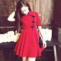 Ropa barata de China Nueva Mujer 2016 Vestidos de Verano vestidos qipao Chino de La Vendimia corta qipao cheongsam mejorado