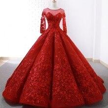 Ensotek Bride Dress Ball Gown Muslim Wedding Dress