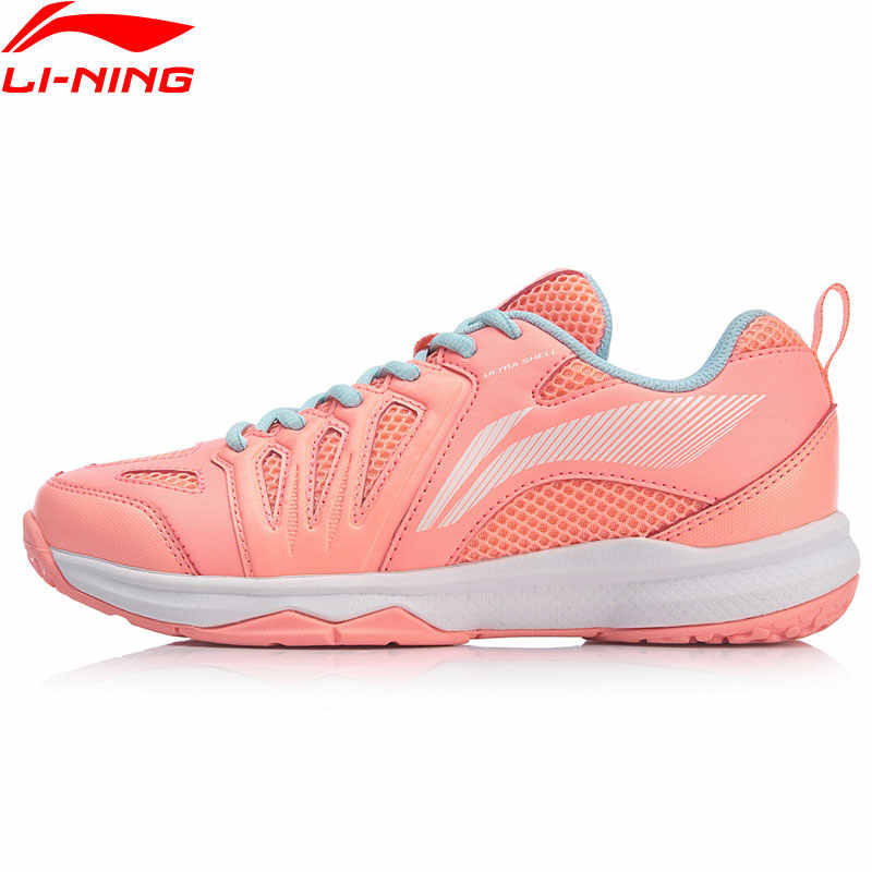 Li-Ning Women ALL-ROUND TRAINER Badminton Training Shoes Anti-Slip LiNing Sport Shoes Wearable Sneakers AYTP004 SAMJ19