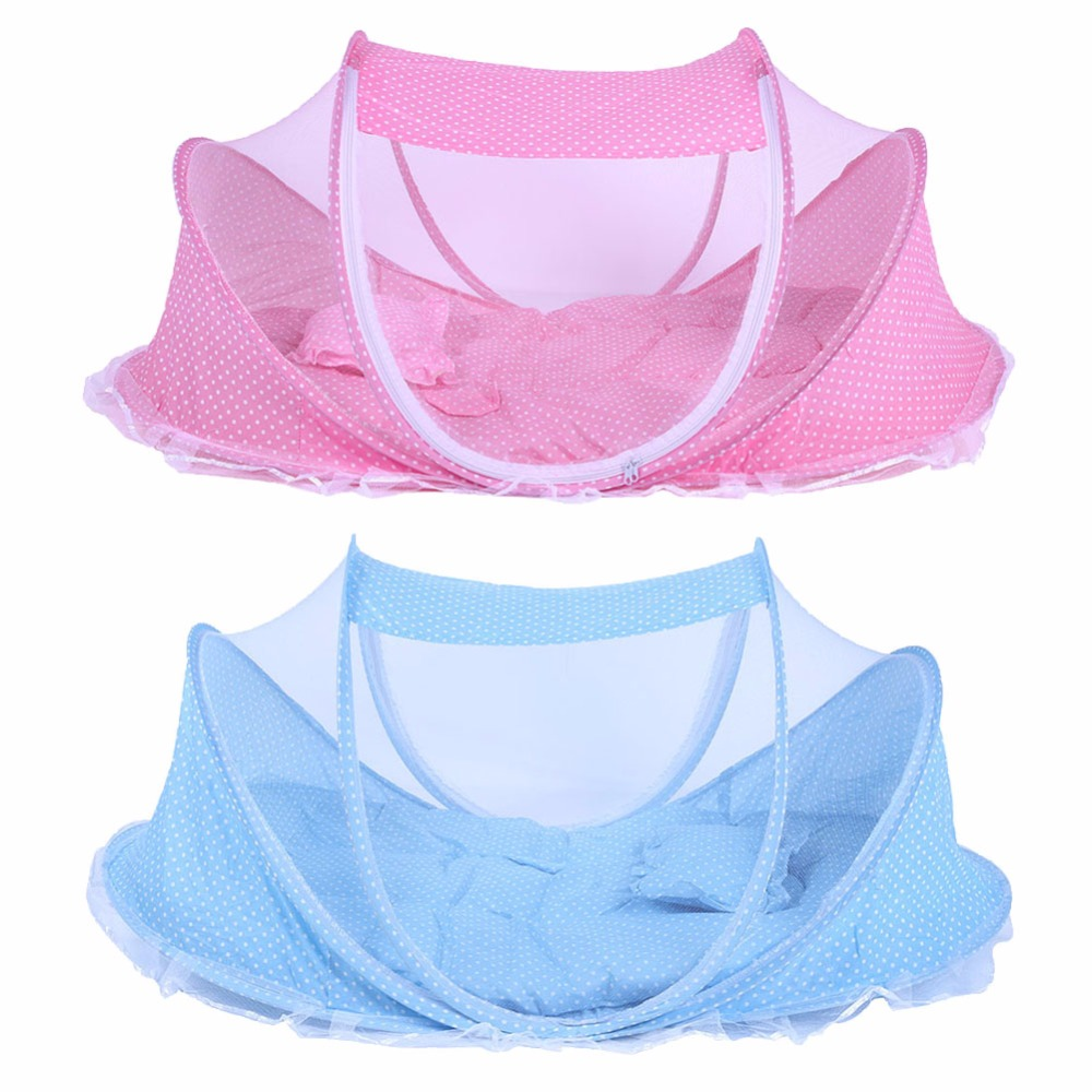 Baby Netting Bed Folding Baby Infants Insect Netting Portable Bed Collapsible NewbornInfant kids Children Baby Crib 2pc or 3pcs