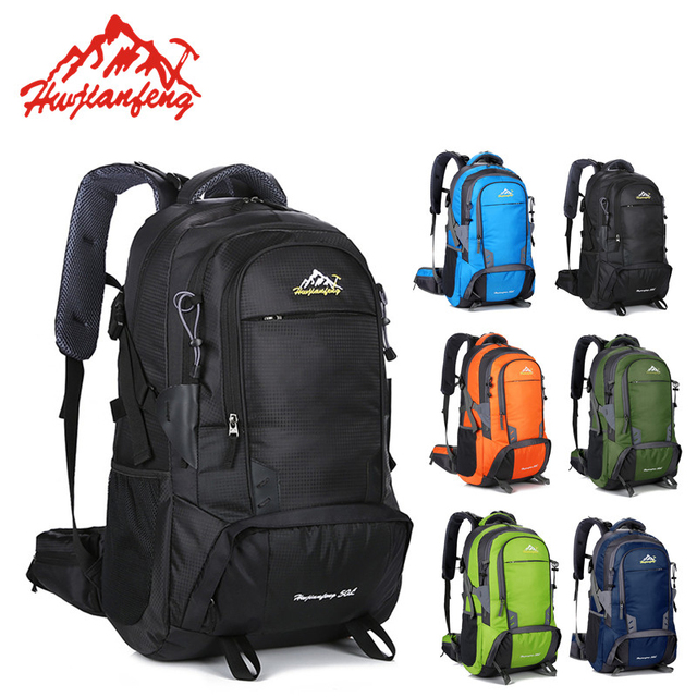 4790e0a642 Waterproof Travel Mochila Outdoor Sports Trekking Rucksack Hiking Camping  Trail Backpack Mountain Climbing Tracking Backpack 50L