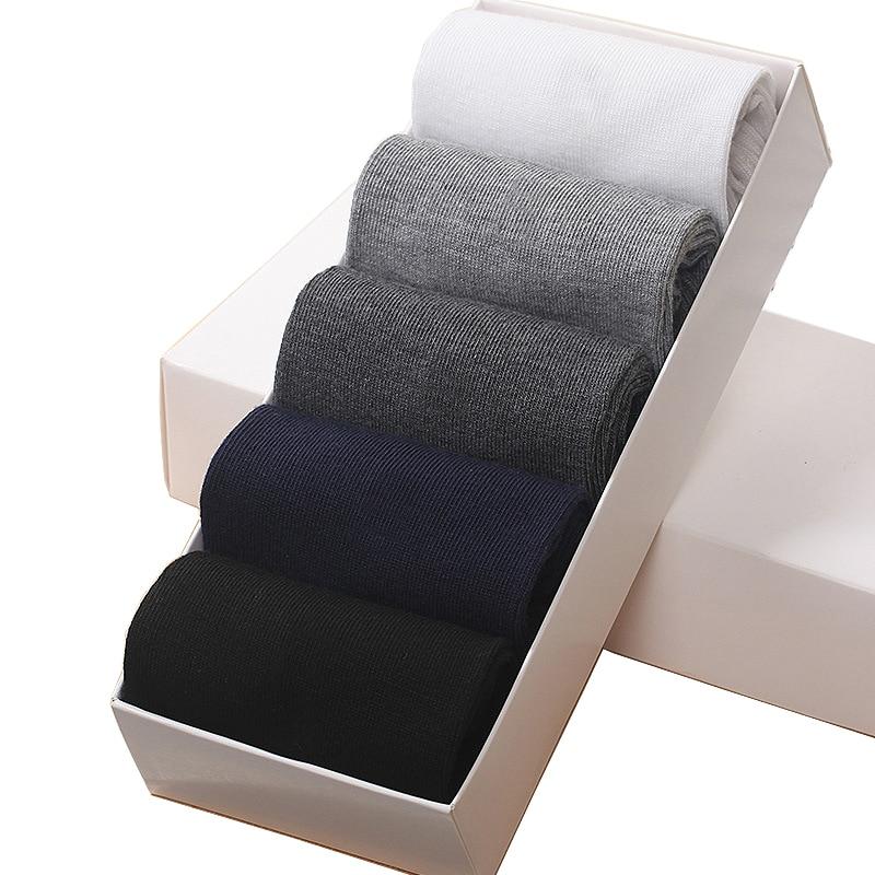 5 Pair/ Lot Mens Cotton Socks Spring Autumn Winter 4 Seasons Business Casual New Quality Weave Plus L Size Sweat Deodorant Sock