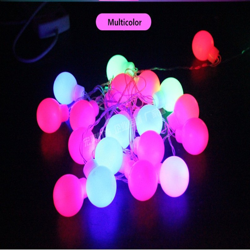 5m 20 Big balls LED Ball string lights Curtain garland lamp for fairy wedding party new year Outdoor Christmas Holiday lighting multicolor led string strip christmas holiday wedding curtain lights 120 smd 12 glass balls 3m long 0 6 high decoration party