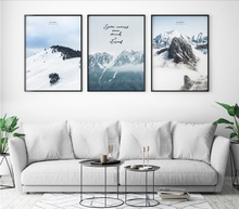 Alpine Snow Scene Print Picture Wall Art Canvas Paintings Poster Decoration for Living Room For Home