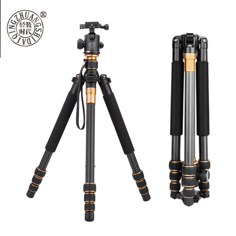 QZSD Q999C trépied Pliable Portable Trépied Carbone Manfrotto & avec rotule Pour appareil photo Numérique