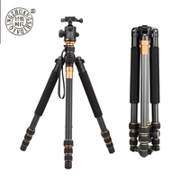 QZSD Q999C tripod Collapsible Portable Carbon Tripod & Monopod with ball head For Digital camera