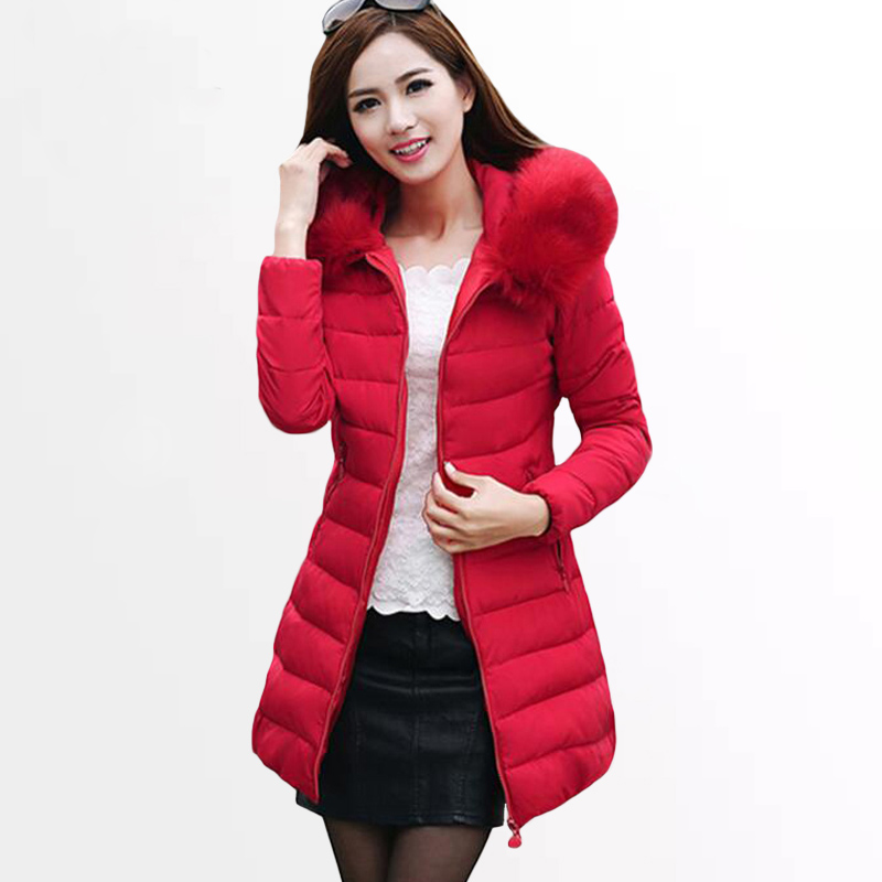 Women's Winter Jacket 2017 New Womens Winter Jackets Coats Female Padded Parkas Fashion Thick Warm Hooded Down Cotton Coat womens winter jackets and coats 2016 thick warm hooded down cotton padded parkas for women s winter jacket female manteau femme