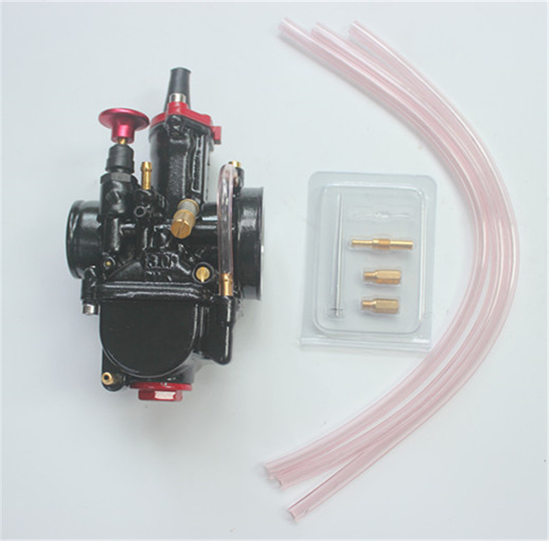 Hot Sale Motorcycle Parts Motor Mikuni Carburetor 28/30/32/34mm For Pwk High Quality Black Carb With Power Jet Fit Race Scooter