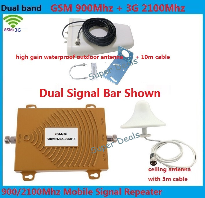 GSM Repeater 3G Repeater GSM 900MHz 2100MHz WCDMA amplifiers Cell Phone Signal Booster UMTS HSPA LTE Repeater + aerial 2100GSM Repeater 3G Repeater GSM 900MHz 2100MHz WCDMA amplifiers Cell Phone Signal Booster UMTS HSPA LTE Repeater + aerial 2100