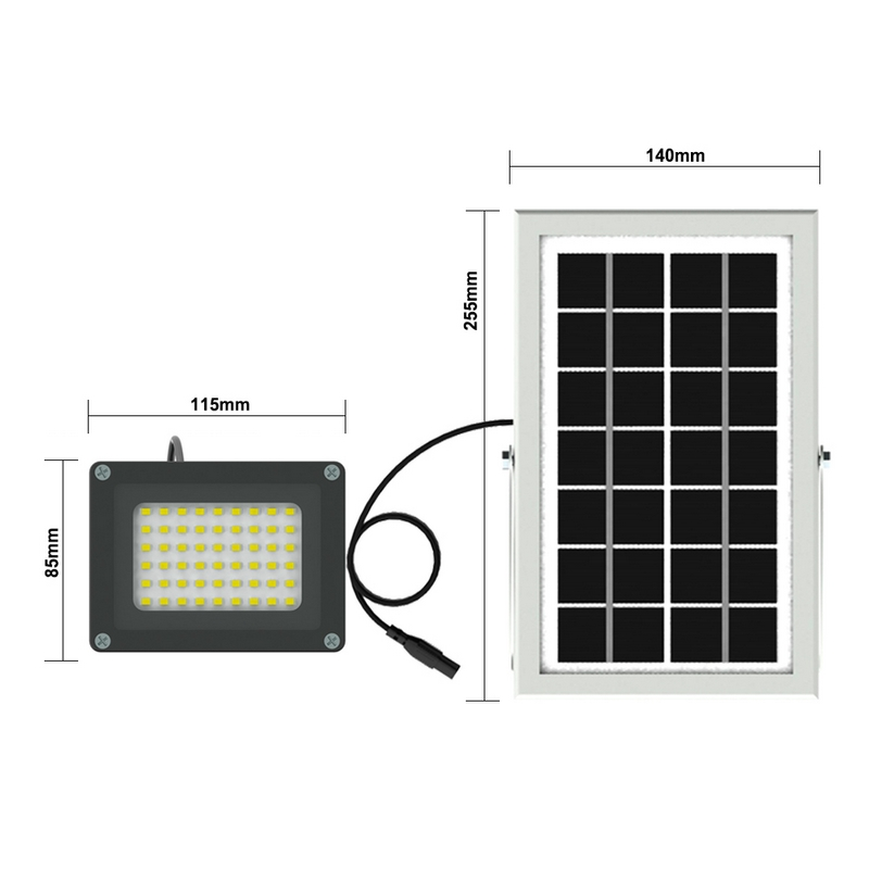 10 w carga do painel solar led