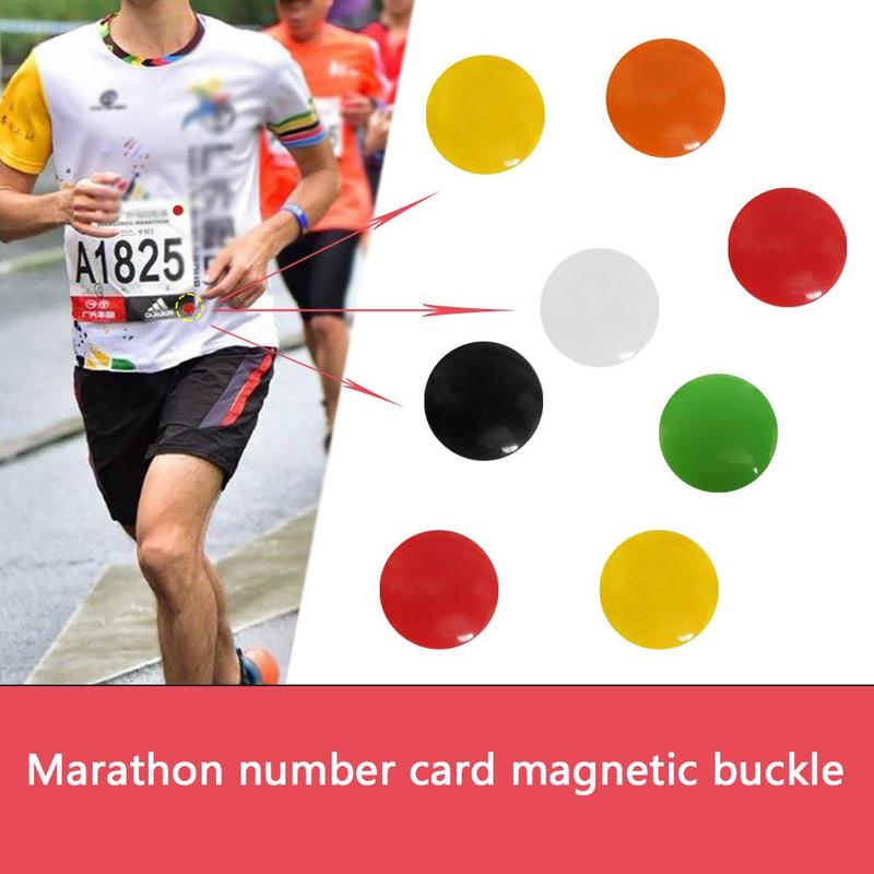 4Pcs/Lot Marathon Race Number Magnetic Race Bib Holders Running Fix Clips Number Belt Cloth Buckle Bag Outdoor Accessories