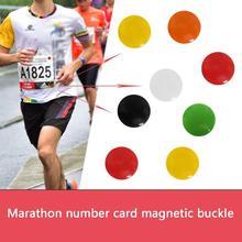 4Pcs/Lot Marathon Race Number Magnetic Race Bib Holders Running Fix Clips Number Belt Cloth Buckle B
