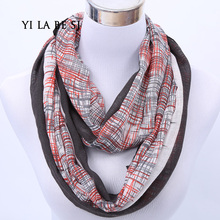 Designer Brand Fashion Infinity Scarfs Winter Warm Plaid scarf Tube Tartan muffler For Women