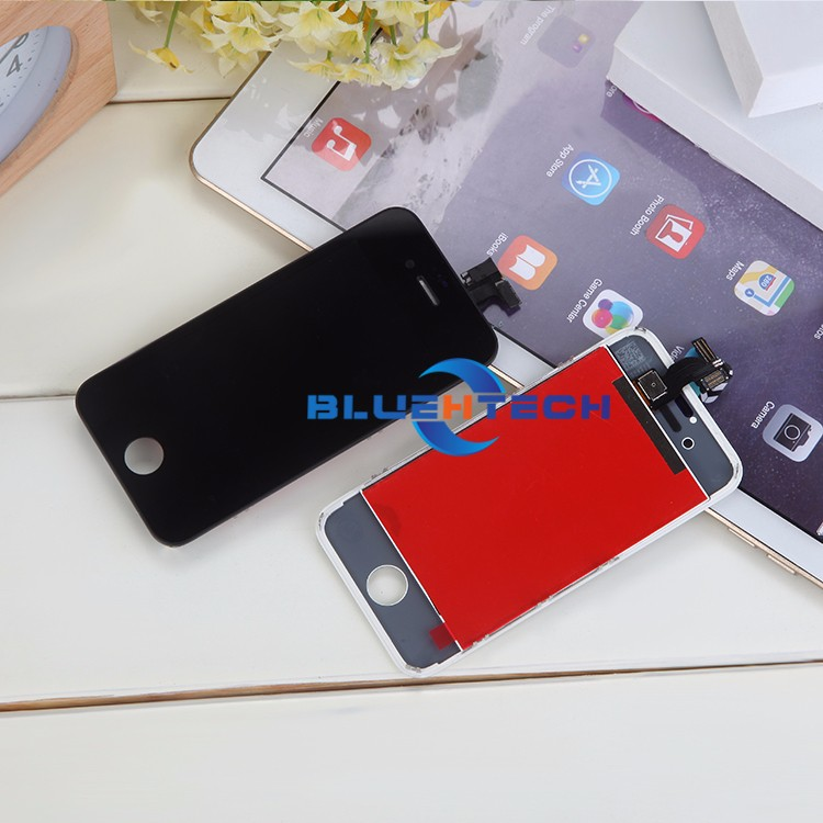 Dla iphone 4s ekran wyświetlacz lcd ekran dotykowy digitizer zgromadzenie części zamienne telefon lcd lcd do telefonów komórkowych/czarny biały 5