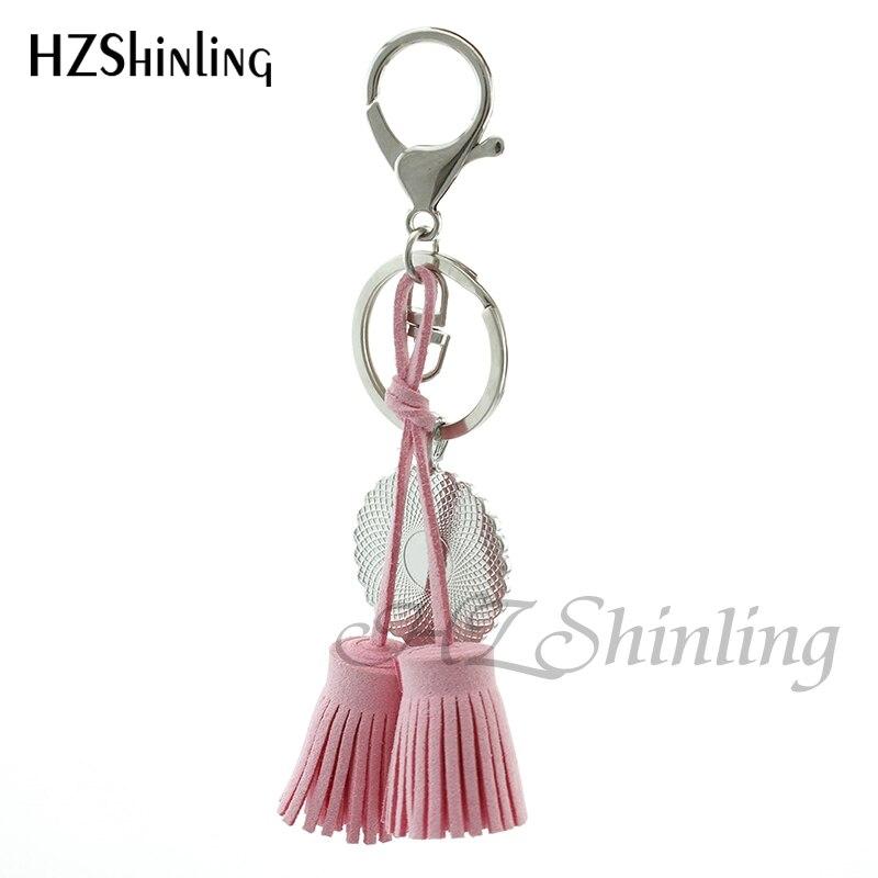 HZShinling TAC-024 Merci Maitresse Tassel Keychains Glass Dome Merci Atsem Crystal Keyring Custom Quote Art Photo Gifts