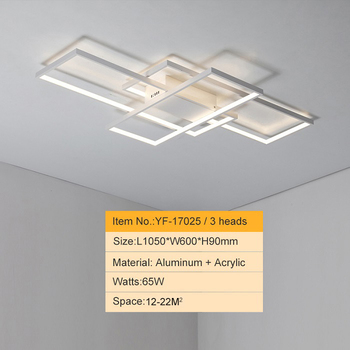 NEO GLeam New Black or White Aluminum Modern Led Chandelier For Living Room Bedroom Study Room AC85-265V Ceiling Chandelier 9