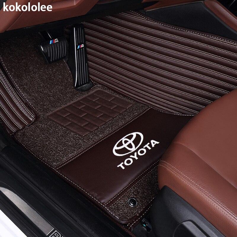 Kokololee Personnalisé de voiture tapis de sol pour Toyota Land Cruiser 200 Prado 150 120 FJ Cruiser pied cas voiture de coiffure tapis liners