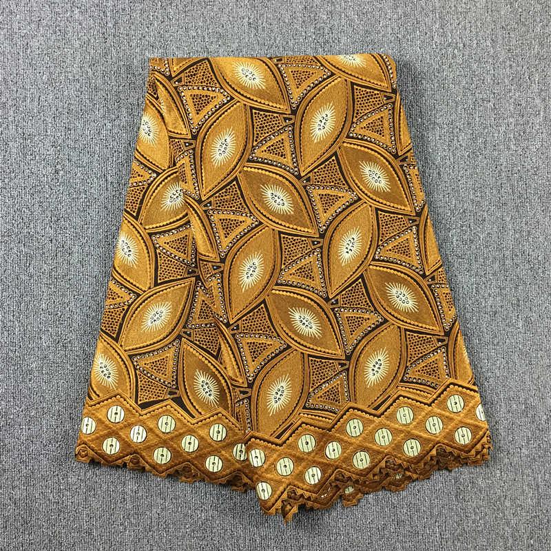 Tela de encaje africano encaje bordado oro encaje 100% algodón gasa 017 5yds para vestido de boda-in encaje from Hogar y Mascotas    1