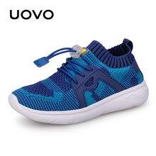 UOVO çocuklar spor ayakkabılar erkek koşu ayakkabıları 2020 bahar çocuk nefes örgü ayakkabı Boys ve kızlar için moda ayakkabı 27 #  37 #