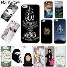 Maiyaca Voor Iphone 8Plus Telefoon Case Moslim Islamitische Gril Ogen Voor Iphone 12 7 6 6S Plus X xs Max Xr 5S Se 11 Pro Max Case Coque