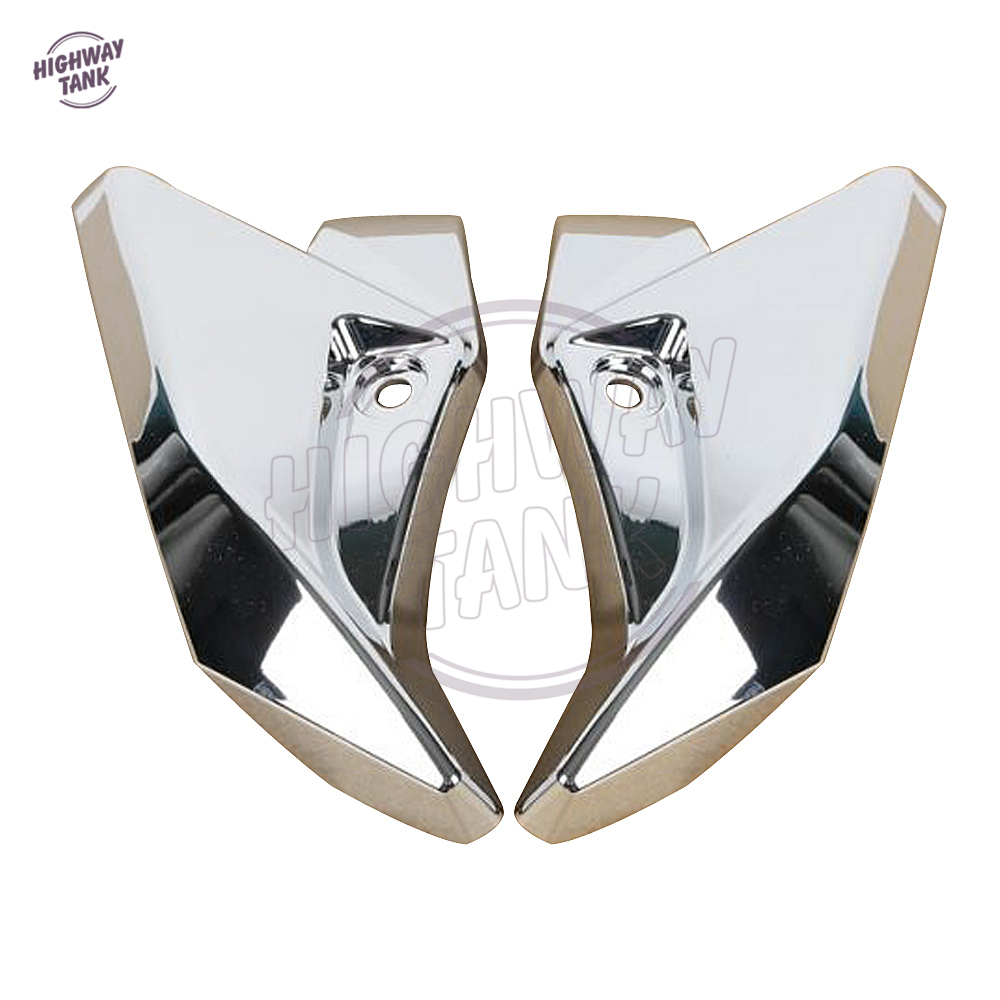 Chrome Motorcycle Front Headlight Side Cover case for Suzuki GSR400 GSR600 2006 2007 2008 2009 2010 2011 2012 abs chrome front grille around trim for ford s max smax 2007 2010 2011 2012