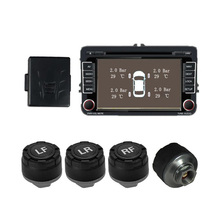 Aoluoya Car TPMS Alarm System For Android GPS Navigation Car Video Player With 4 Sensors TPMS Tire Pressure Monitoring System