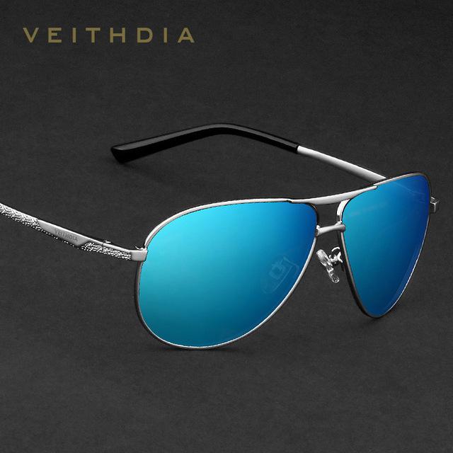 VEITHDIA hombres de la Marca de gafas de Sol Polarizadas Lente de Espejo de Conducción Gafas De Pesca Accesorios de Conducción Gafas de Sol De Los Hombres 2556