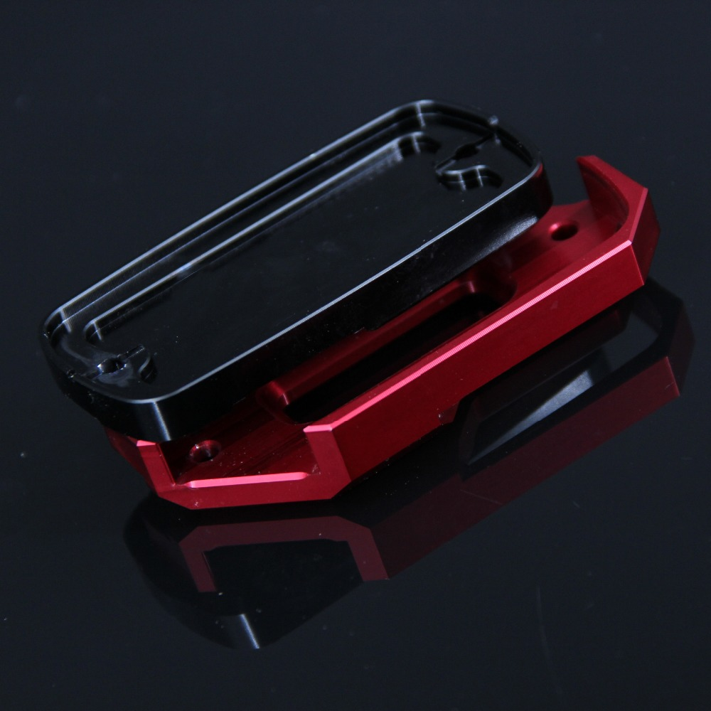 Red Black Motorcycle Front Brake Master Cylinder Fluid Reservoir Cover Oil Cap For HONDA CB650F CB 650F CB650 F 2014 2019 2018 in Covers Ornamental Mouldings from Automobiles Motorcycles