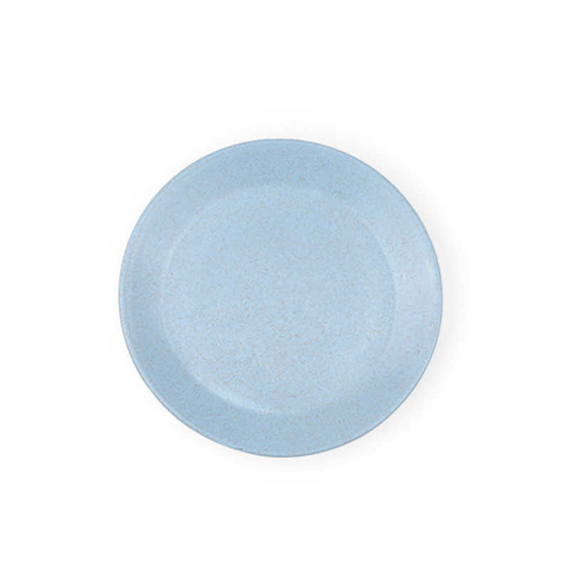 เด็กแผ่นฟางข้าวสาลีรอบสีทึบอาหารเย็นเด็กขนมขบเคี้ยวแบบพกพาจานบนโต๊ะอาหาร MBG0345