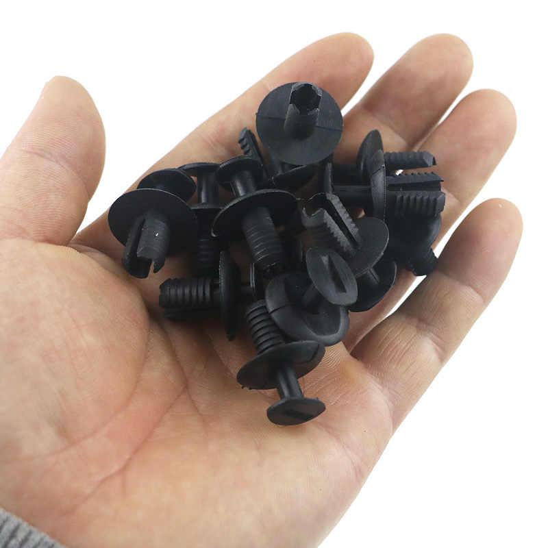 QFHETJIE 1 قطع السيارات السحابة كليب أسود YT-1648 سيارة الحاجز كليب دفع برشام لسيارات بمو قطع غيار السيارات إصلاح أجزاء