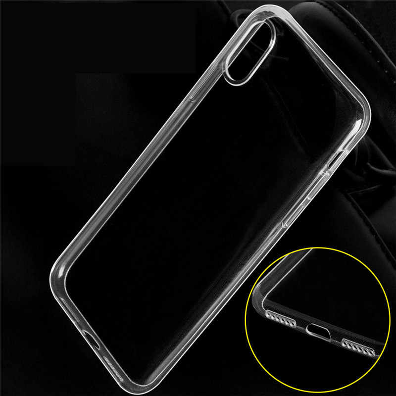 1pcs Ultra Thin Soft TPU shell mobile phone case Applicable to iphone 6plus protective cover transparent soft shell