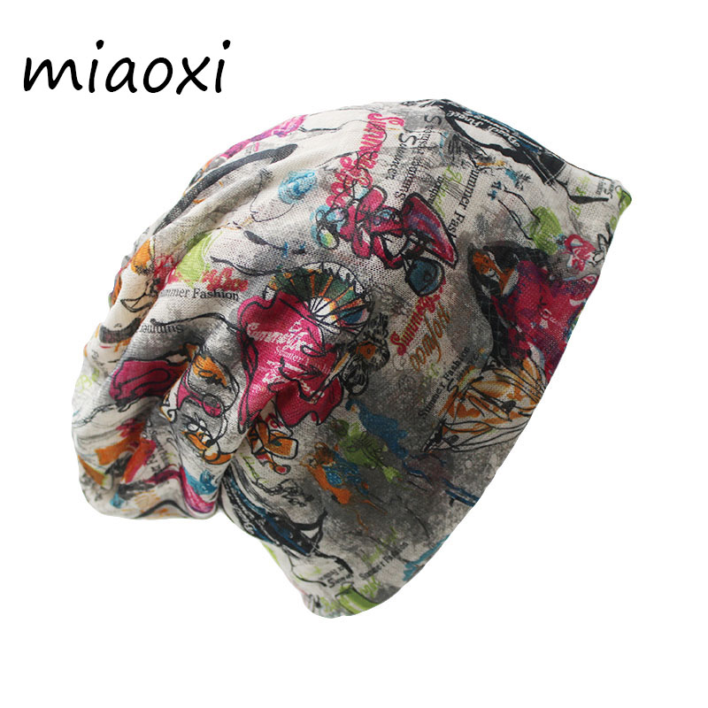 miaoxi New Arrival Fashion Women Letter Hat Colors Women's Casual Floral Warm Scarf Autumn Hat For Girl Winter Beanie Skullies skullies 2017 new arrival hedging hat female autumn and winter days wool cap influx of men and women scarf scarf hat 1866729