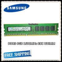 Samsung DDR3 8 GB 16 GB di memoria del server 1600 MHz Puro ECC UDIMM 2RX8 8G PC3L-12800E 1.35 V workstation RAM 12800 Unbuffered