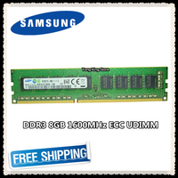 Samsung DDR3 8GB 16GB server memory 1600MHz Pure ECC UDIMM 2RX8 8G PC3L 12800E 1.35V workstation RAM 12800 Unbuffered