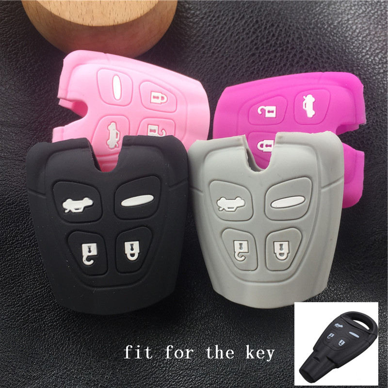 key case cover For SAAB 9-3 9-5 93 95 silicone car key cover case shell anti slip auto seat cover under baby safty mat protection for lotus elise europa s evora exige saab 9 2 9 2x 9 3 9 4x 9 5 9 7x