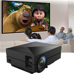 Coolux GM60 LCD LED Projector 1000Lm 800 x 480 Pixels Supports 1080P HD Projection for Home Theater Cinema