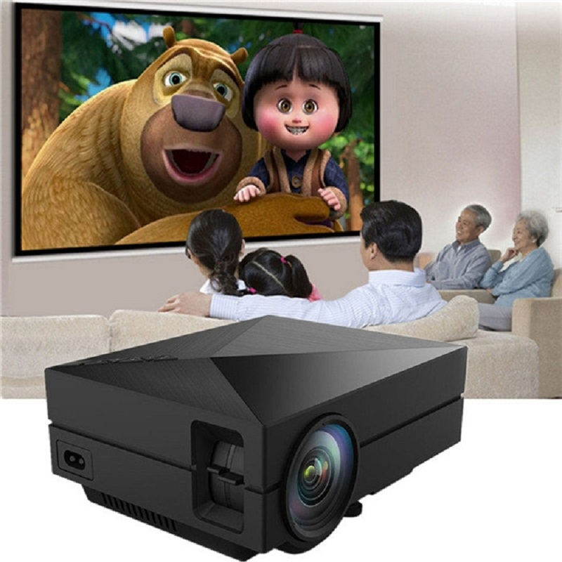 Coolux GM60 Mini LCD FÜHRTE Projektor 1000LM 800x480 Pixel Unterstützt 1080 P HD Projektion Heimkino-projektor