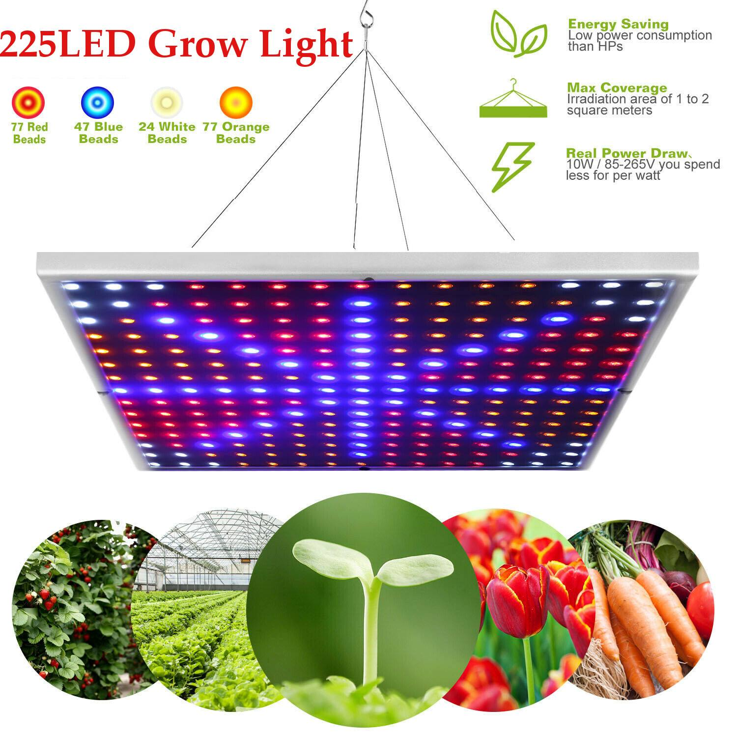 New 45W 225 LEDs Fitolampa Phyto-lamp LED Grow Light Full Spectrum LED Panel Grow Lamp For Plants Hydroponics Tent Aquarium
